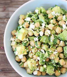 Chickpea Avocado and Feta Salad