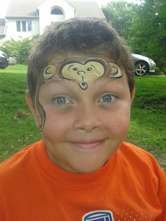 Cute monkey Face Painting
