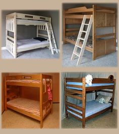 """Bunk beds only 78"""" long - should fit in boys' room!"""