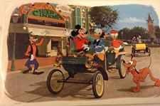 Vintage 1964 Walt Disney Productions Disneyland Main St Placemat Mickey Donald