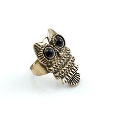 bronskleurige uil ring: €4,95