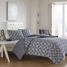 City Loft™ Bria Twin Comforter Set in Navy    $69