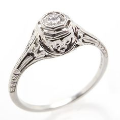 Fine-Vintage-Belais-Diamond-Engagement-Ring-Filigree-Solid-18K-White-Gold-1940s.  I thought this was my engagement ring but it couldn't be resized!