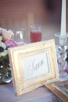 Frames for table numbers