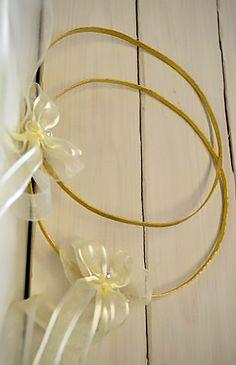 Χειροποίητo στέφανo γάμου επίχρυσα, σφυρήλατα ---------------------Handmade gold-platedwedding wreath