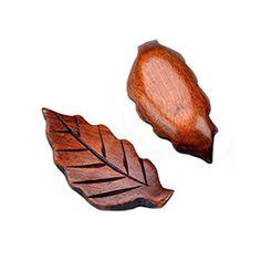 Set mit 4 Holz Essstäbchenablage Löffel Gabel Besteck-Halter, Blatt-Muster - http://besteckkaufen.com/blancho/set-mit-4-holz-essstaebchenablage-loeffel-gabel-2