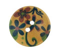set of 6 light brown cream raised rough texture interesting design buttons 26mm