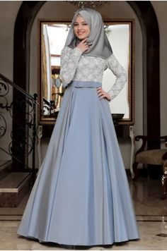 Hajib Fashion, Muslim Fashion, Fashion Dresses, Hijab Gown, Farewell Dresses, Muslimah Wedding Dress, Muslim Dress, Sweet Dress, The Dress