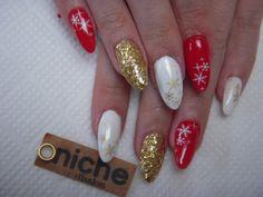 クリスマスネイル☆雪の結晶ネイルの画像 | 中野ネイルサロンニッチ☆niche☆