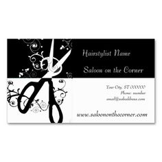 142 best salon business cards images on pinterest in 2018 salon black and white scissors appointment card wajeb Gallery