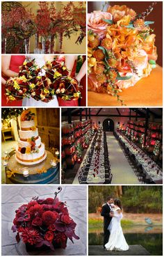 color ideas and like the bridesmaid bouquet Bridesmaid Bouquet, Wedding Bouquets, Wedding Flowers, Fall Wedding Colors, Red Wedding, Wedding Stuff, Wedding Mood Board, Marrying My Best Friend, Getting Married