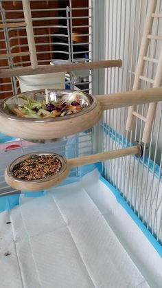 Snack-N-Perch Bird Perch great for by SolidStateIndustries on Etsy: #aviariesideas