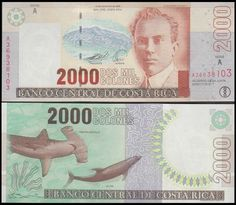 Costa Rica 2,000 Colones, 2005, 265, Costa Rica, Money Notes, For What It's Worth, Printer, Old Money, Coin Collecting, Central America, Stamp, Paper