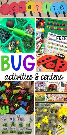 Bug Centers and Activities - Pocket of Preschool - Bug themed activities and centers for preschool, and kindergarten (freebies too)! Perfect for sprin - # Insect Activities, Spring Activities, Toddler Activities, Summer Themes For Preschool, Preschool Weekly Themes, Preschool Bug Theme, Camping Activities, Educational Activities, Insect Crafts