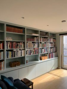 Custom Made Bookcases hand built in our Wimbledon workshop. Wall Shelving Units, Shelving Design, Wall Bookshelves, Wall Shelves, Bookcases, Built In Shelves Living Room, Bookshelves In Living Room, Bookshelves Built In, Home Library Design