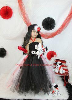 Cruella DeVille Inspired 101 Dalmatians Tutu by OnceUponATimeTuTus