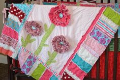 (7) Name: 'Quilting : Ruffled Flower Rag Quilt Pattern