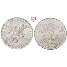 Bundesrepublik Deutschland, 5 DM 1952, Germanisches Museum, D, st, J. 388: 5 DM 1952 D. Germanisches Museum. J. 388; stempelfrisch… #coins