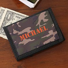 Gift for Mikey - Kids Camouflage Tri-fold Wallet for Boys - 4146 Wedding Book, Wedding Gifts, Wedding Stuff, Wedding Ideas, Wallets For Boys, Military Videos, Ring Bearer Gifts, Personalized Gifts For Kids, Kids Gifts