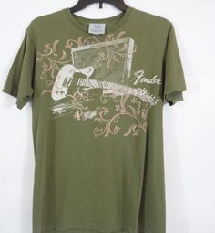 Vintage FENDER GUITAR Rock n Roll T Shirt Size Medium  COOL SHIRT #Fender #GraphicTee