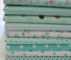 "100% Cotton 9 Assorted Pre Cut Charm 10"" Squares Quilt  Fabric F209 #Unbranded"