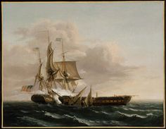 """Thomas Birch - Engagement Between the """"Constitution"""" and the """"Guerrière"""" 1813"""