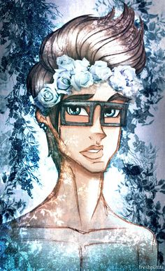 Hipster Dex With Flower Crown by Ivy Alimi [©2013-2015 freshplinfa-ivy]