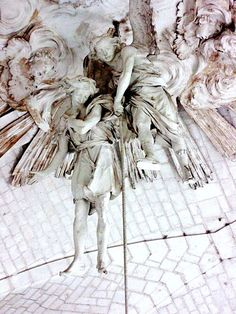 Valloires Abbey - two angels at the top of the altar - eighteenth century