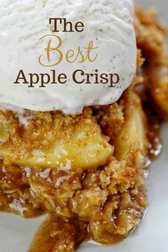 This special Apple Crisp packs MORE flavor and MORE punch than every other recipe! Find out what makes it amazing! Apple Crisp Best Apple Crisp Homemade Apple Crisp Secret Ingredient Apple Crisp How to Make Apple Crisp Easy Apple Crisp applecrisp Desserts Homemade Apple Crisp, Apple Crisp Easy, Apple Crisp Recipes, Best Apple Crisp Recipe, Apple Cobbler Easy, Apple Dessert Recipes, Apple Crisp Healthy, Apple Crunch Recipe, Caramel Apple Crisp