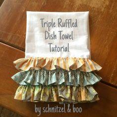 Schnitzel & Boo: Tutorial: Triple Ruffled Dish Towel