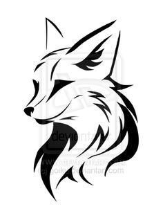 Simple Fox Tattoo Logo fox design by goiku