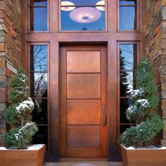 Love the windows around the doors Contemporary Front Doors, Modern Front Door, Front Door Design, Front Door Decor, Front Entry, Front Stoop, The Doors, Entrance Doors, Doorway