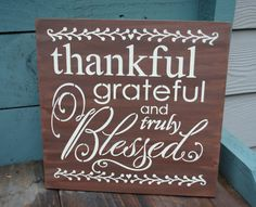 thankful grateful and truly Blessed by simplycutecreations on Etsy