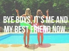 This summer, bye boys, it's me and my best friend now.  Pink Pad - the app for women - pinkp.ad