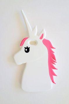Coque silicone insolite forme d'un unicorne pour iPhone 6s 6splus sur www.jeuxciel.fr