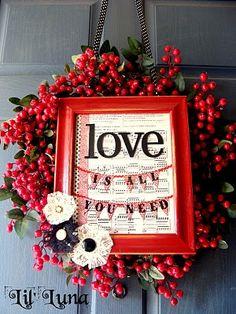 Valentines Wreath & Frame