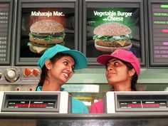McDonalds India (yes the Indian Veggie version is pretty darn good