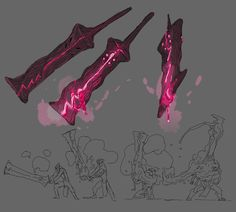 DnD concept sword by Gabo Fantasy Sword, Fantasy Armor, Fantasy Weapons, Dark Fantasy, Fantasy Character Design, Character Concept, Character Art, Character Design Inspiration, Level Design