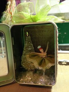 Christmas shadow box, visions of the Nutcracker ballet