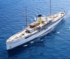 SS DELPHINE 1921 Historic 78-Meter Steam-Powered Super Yacht.