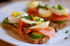 Smoked Salmon Sandwich! Perfect Brunch!