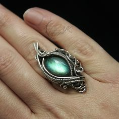 ANAVINTARH - silver and labradorite ( ring ) by LUNARIEEN on deviantART