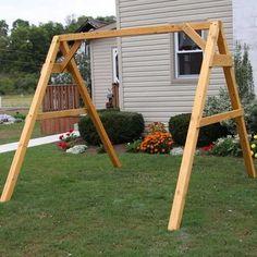 A Frame For Swings Porch Swing Frame Plans A Frame Porch Swing Plans A Frame Swing Set Brackets Canada A Frame Swing Set, Porch Swing Frame, Swing Set Plans, Diy Swing, Bench Swing, Pergola Swing, Pergola Plans, Gazebo, Pergola Kits