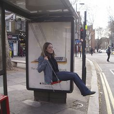 "Bus Stop Swing:  Artist Bruno Taylor installed a swing at a bus stop for an industrial design class, taking a video of the various reactions received by bus riders and passersby. ""71% of adults used to play on the streets when they were young. 21% of children do so now. Are we designing children and play out of the public realm?""  ""This project is a study into different ways of bringing play back into public space. It focuses on ways of incorporating incidental play in the public realm by…"