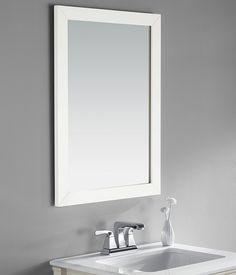 22 by 30 inch Bath Vanity Mirror, Soft White: (affiliate link)