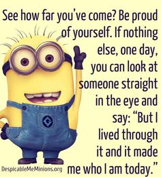 Inspirational Message from Minions