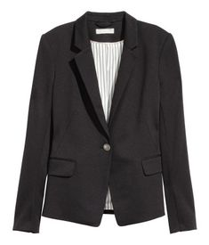 Soft jersey jacket with a button at front, notched lapels, and flap 1113031a87ed