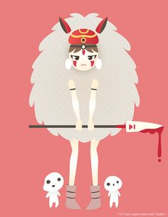 It's already 3:45 a.m but I still want to post this lol! Here's Princess Mononoke to add to my Studio Ghibli drawings!