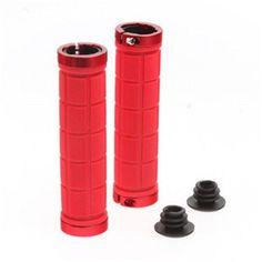 ROCKBROS Lock On Bicycle Grips Rubber MTB Road Bike Grips Handle End Bar Cycling BMX Fixed Gear Handlebar Grips Fixie Bike Parts