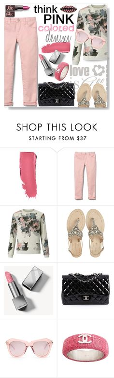 """Colored Denim: Pink Jeans"" by mponte ❤ liked on Polyvore featuring Chanel, John Lewis, Antik Batik, Burberry, Karen Walker and Delfina Delettrez"